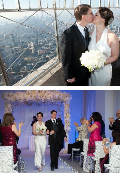 De boda en el Empire State Building