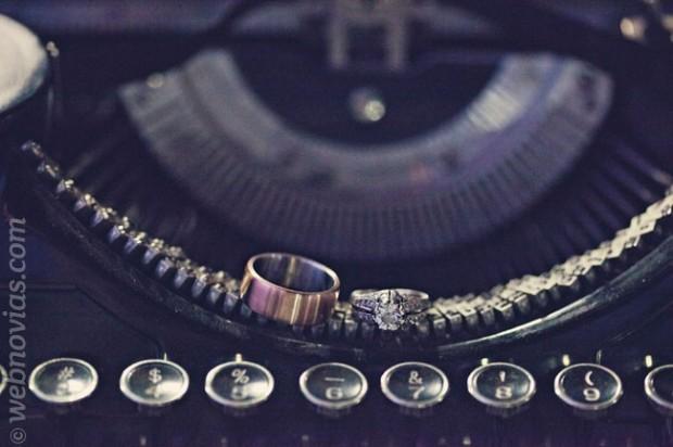 Bodas vintage con máquinas de escribir