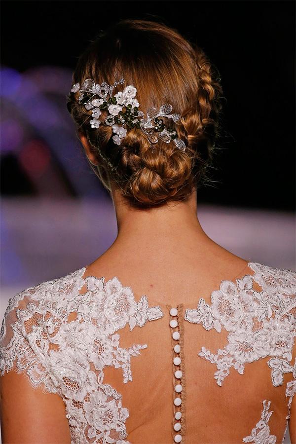 Peinado con trenzas para novia