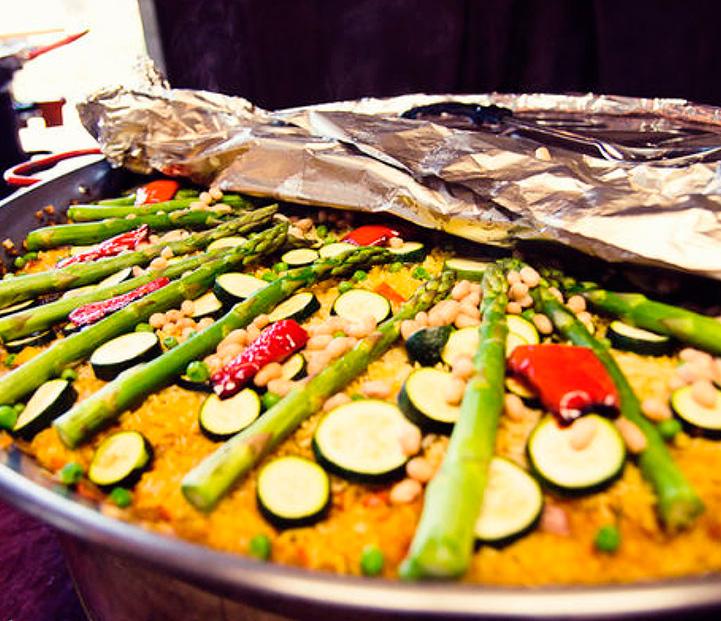 Banquete de boda vegetariano