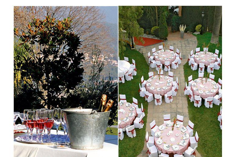 El aperitivo del banquete de boda
