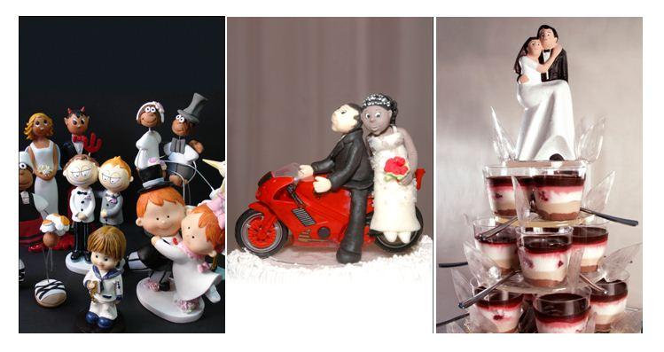 La figurita del pastel de bodas