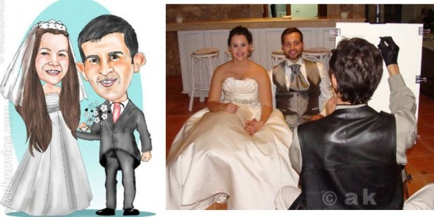 Caricaturas para bodas, una idea divertida