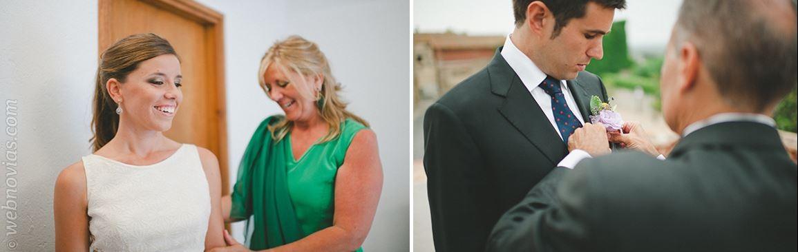 Caro y Tati una boda familiar en el pueblo