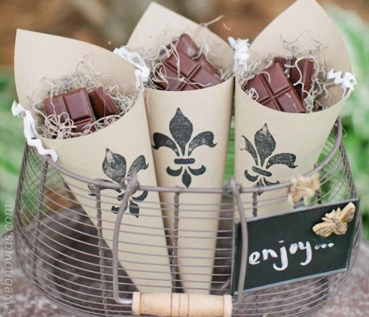 Chocolate como detalle para los invitados de boda