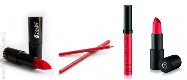 Ideas de maquillaje: Novias con labios rojos