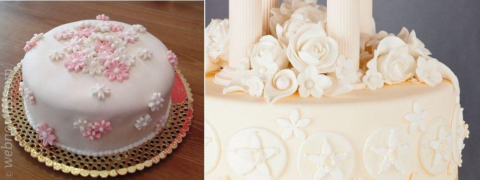 El pastel de boda más romántico
