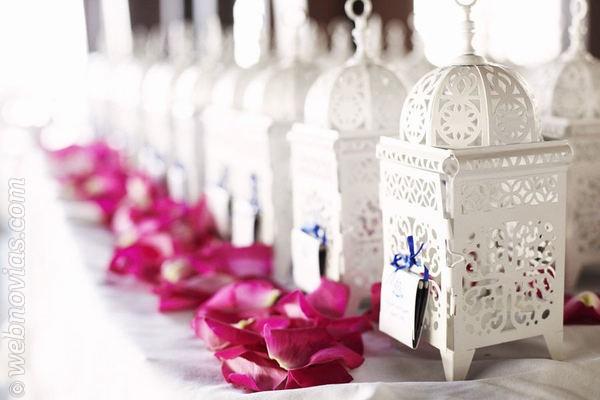 decoración de bodas con faroles | webnovias