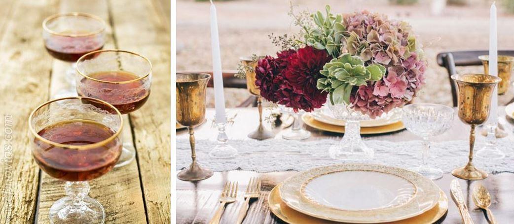 Decora tu boda en dorado