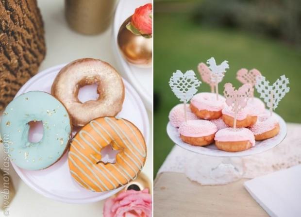 Los dónuts, invitados al banquete de bodas