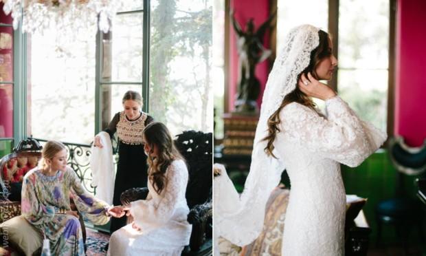 El primer vestido de novia de las Olsen