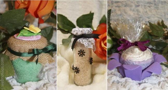 Regala jabones como detalle de boda