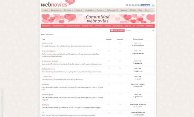Nace el foro de Webnovias