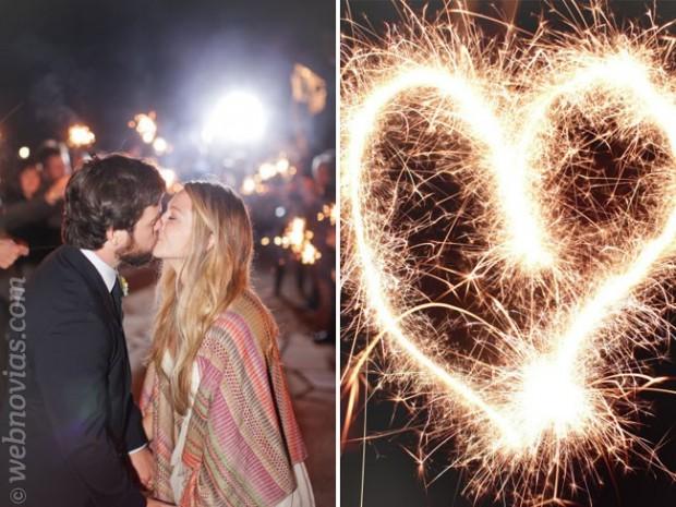 Fuegos artificiales para bodas