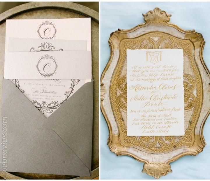 Invitaciones de boda aristocráticas