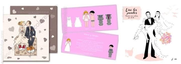 Invitaciones de boda con ilustraciones 2