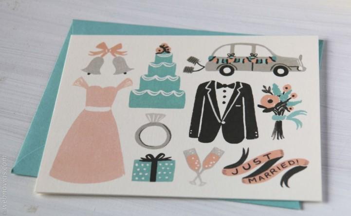 Invitaciones de boda con ilustraciones Esther & Martin