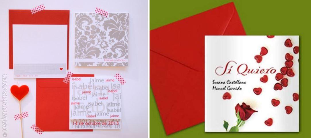 Invitaciones de boda para San Valentín