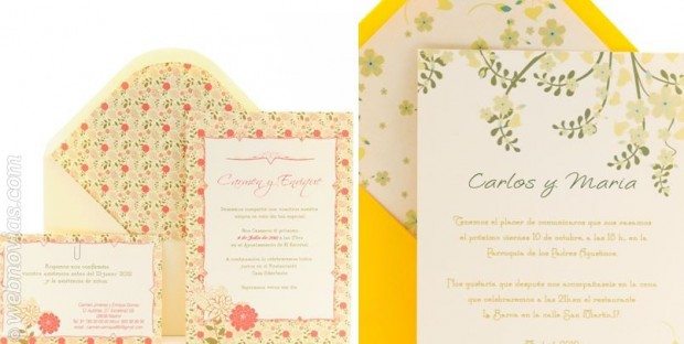 Invitaciones de boda: ¡viva la primavera!
