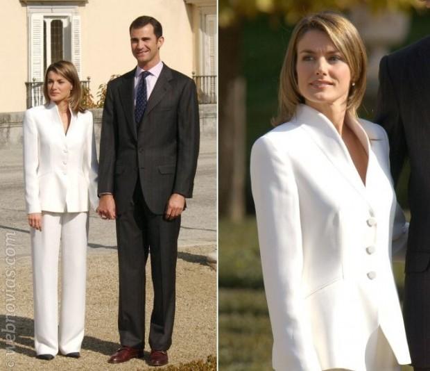 Traje novia reina letizia