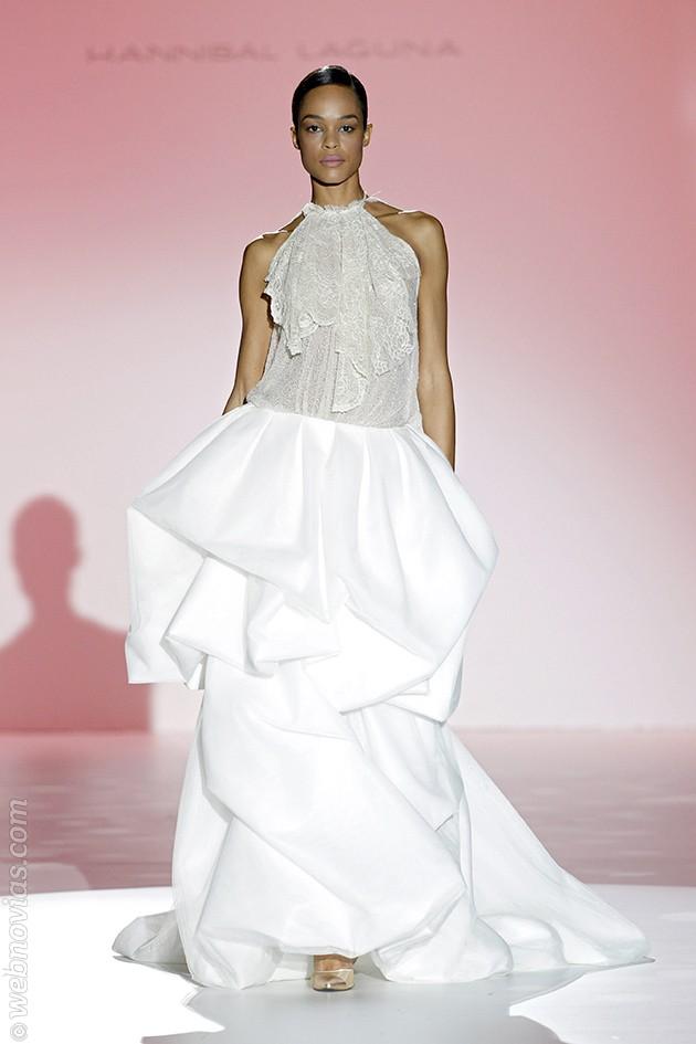 vestido de novia Hannibal Laguna 2015