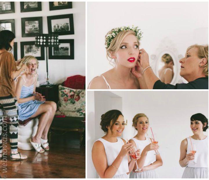 Las fotos de la boda con las damas de honor