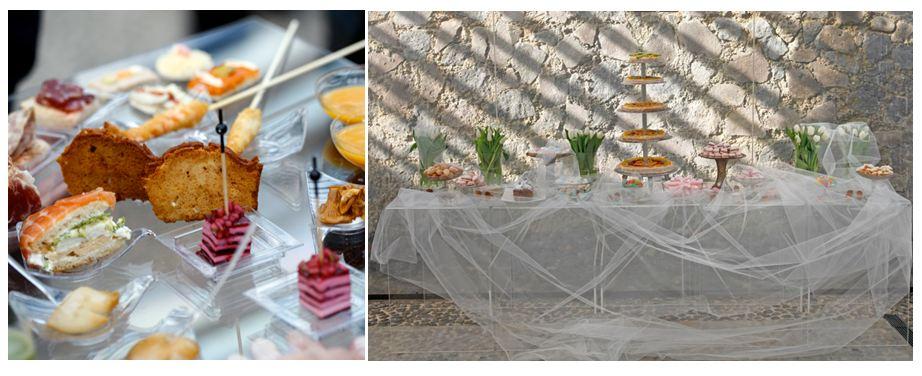 Banquete de bodas con estrella