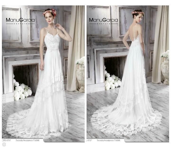 Vestidos de novia de línea recta para 2016