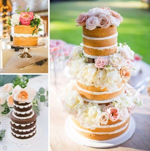 Naked cakes: pasteles de boda a la última | Webnovias.com