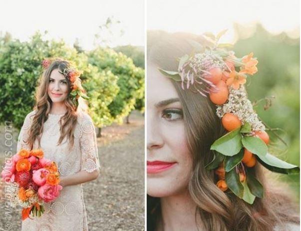 ¡Sí a los peinados de novia con flores!