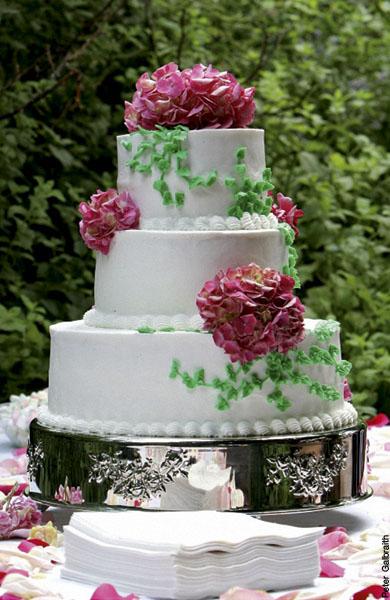Pasteles de boda a todo color