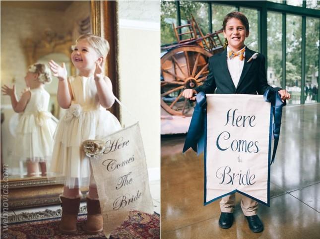 Ideas para carteles: ¡Qué viene la novia!