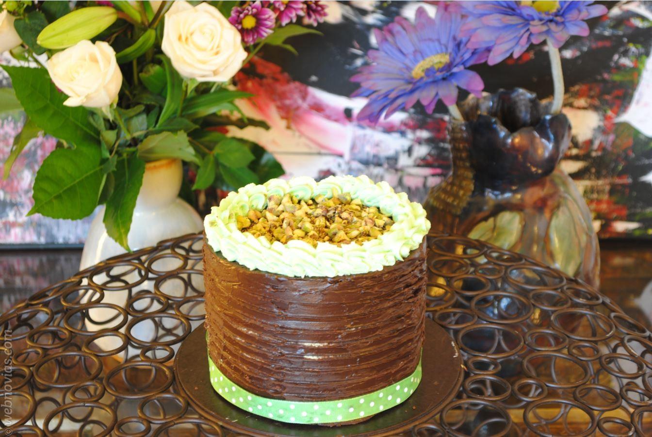 Receta Tarta de chocolate con pistacho
