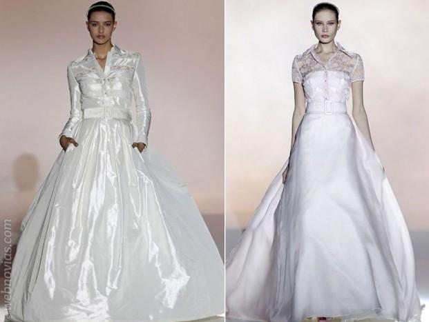 vestidos de novia cuello camisero – vestidos baratos