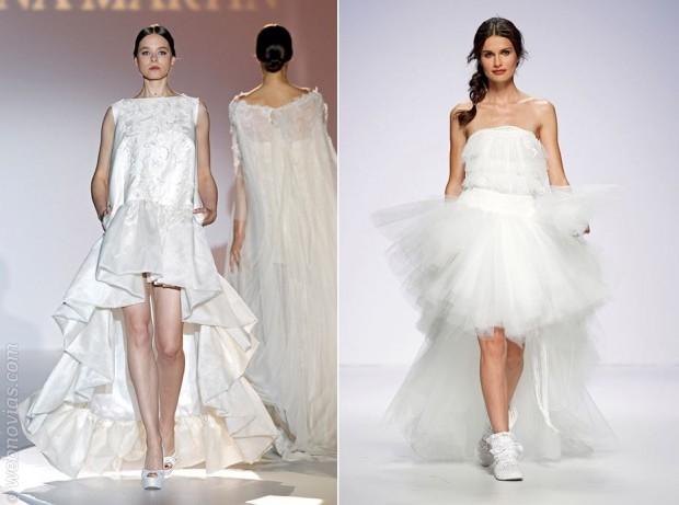 Tendencias Gaudí Novias vestidos cortos