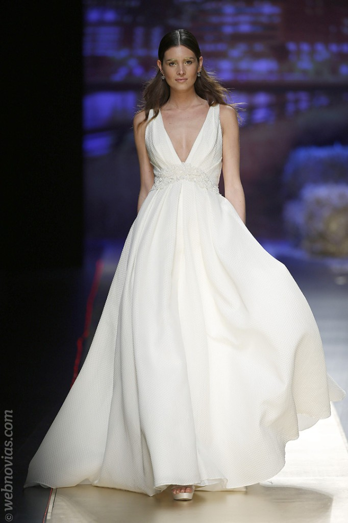 tendencias para novias 2016: vestidos de piqué | webnovias