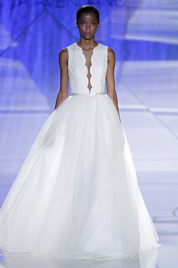 Vestido de novia de Patricia Avendaño 2017.