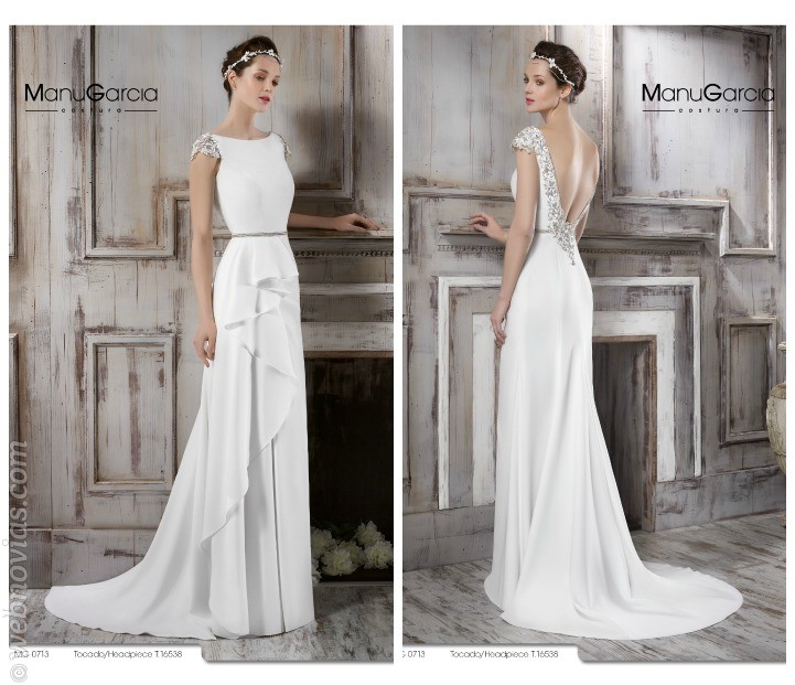 vestidos de novia de líneas rectas para 2016 | webnovias