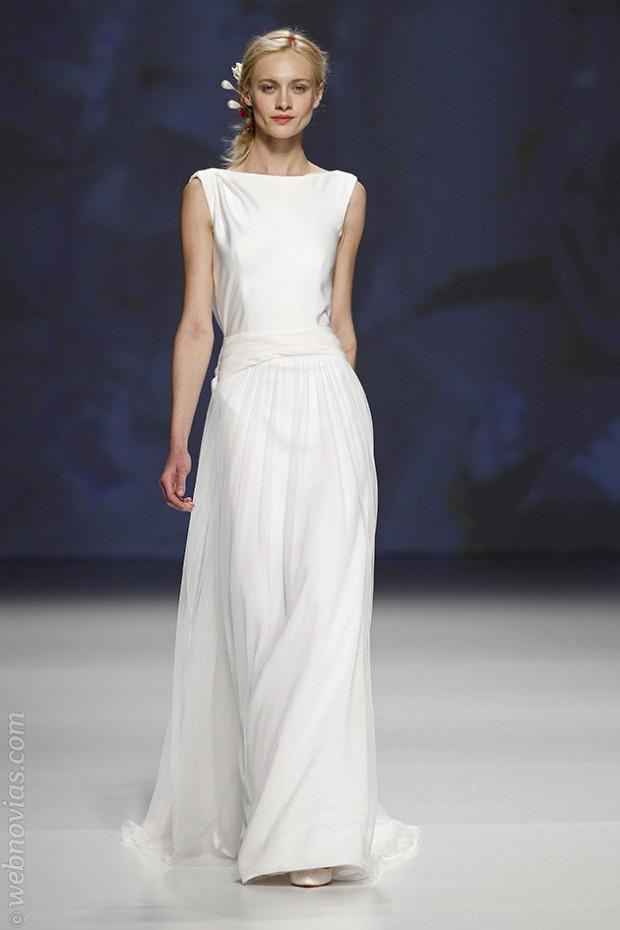 Vestidos minimalistas BCN Bridal Week 2014