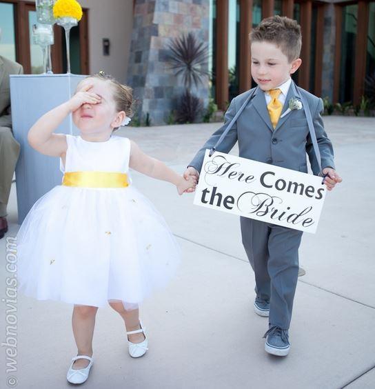 Cómo escoger a los pajes de tu boda