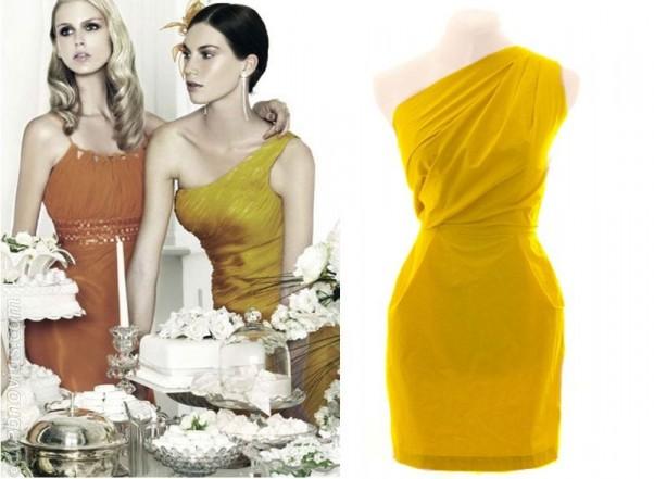 2442d0044795a Vestido amarillo para boda civil – Los vestidos de noche son ...