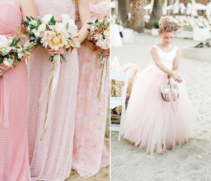 Blush pink para bodas