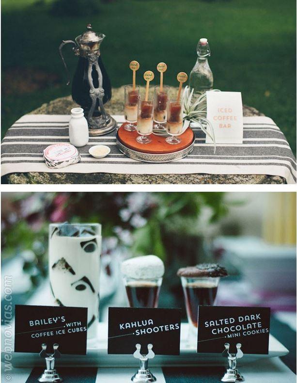 Coffee bar en el banquete de tu boda