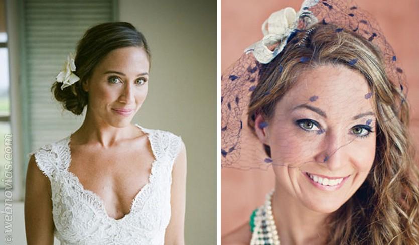 Maquillaje de boda para ojos verdes