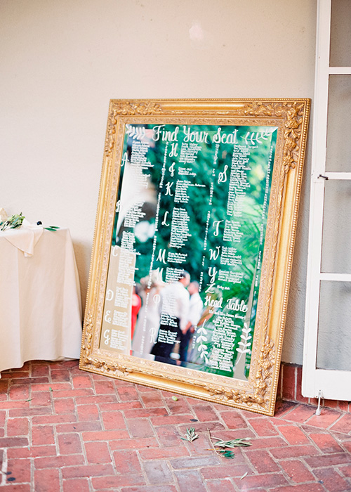 Decoración de boda con espejos
