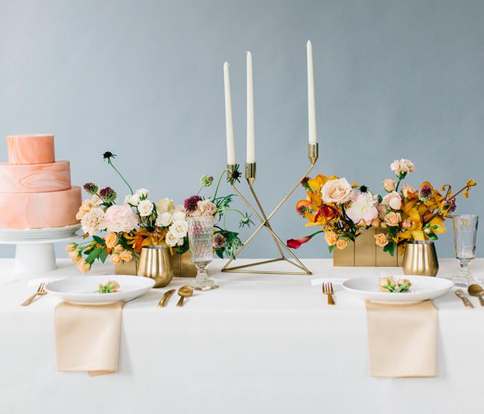 Dorado para el banquete de bodas