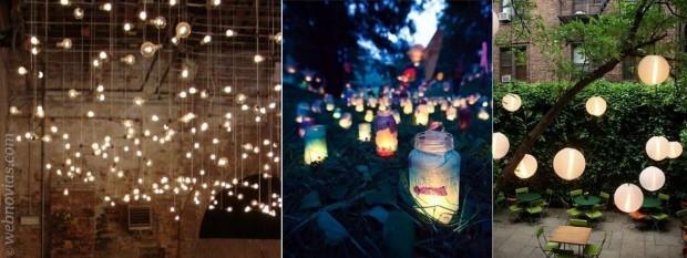 Iluminacin creativa para bodas Webnoviascom