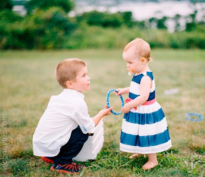Tips para las fotos de la boda con niños