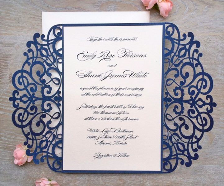 Invitación de boda troquelada