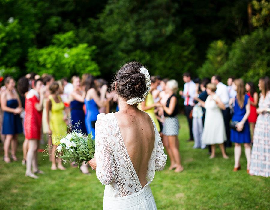 Lanzamiento ramo de novia